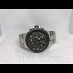 MICHAEL KORS Watch Silver and brown men's.